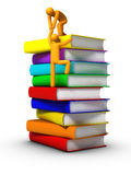 Climbing to the books Stock Photography