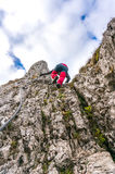 Climbing to the sky stock photo