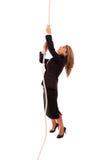 Climbing to success Stock Photo