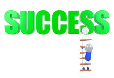 Climbing to success point, conceptual image Royalty Free Stock Images