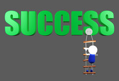 Climbing to success point, conceptual image Royalty Free Stock Photos