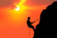Climbing to sun Royalty Free Stock Image