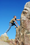 Climbing To The Top Stock Image