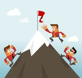 Climbing to the Top Career Royalty Free Stock Image