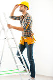 Climbing to the top. Stock Photography