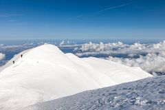 Climbing to the top of Mont Blanc Stock Photography