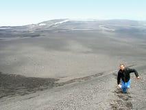 Climbing to top Mount Etna. stock photography
