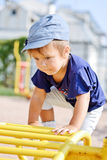 Climbing toddler Stock Photography