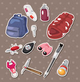 Climbing tool stickers Royalty Free Stock Photography