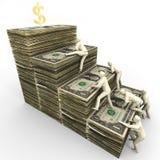 Climbing Toward Financial Success Stock Photos