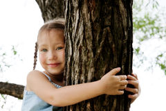 Climbing on a tree Stock Image