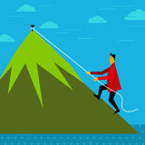 Climbing up - business concept and idea.  Stock Photography