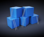 Climbing up the ladders Royalty Free Stock Photography
