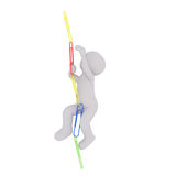 Climbing up paper clip chain Royalty Free Stock Photography