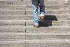 Climbing up stairs Royalty Free Stock Images
