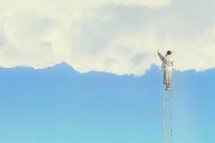 Climbing up to sky Stock Image