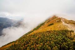 Climbing Volovec at Tatra mountains Stock Photos