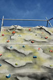 Climbing wall. To outdoor Training Royalty Free Stock Photography