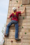 Climbing wall Royalty Free Stock Images