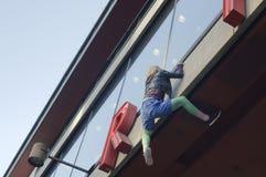 Climbing a wall Royalty Free Stock Photography