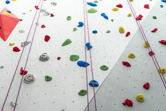 Climbing Wall Stock Photo