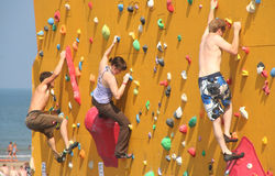 Climbing Wall Royalty Free Stock Photography