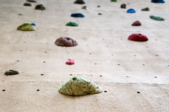 Climbing wall background Stock Photography