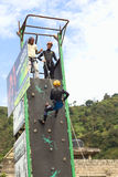 Climbing Wall in Banos, Ecuador Royalty Free Stock Photo