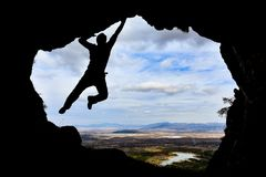 Outdoor sports, climbing and adventure Stock Photography