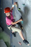 Climbing the wall Stock Photography
