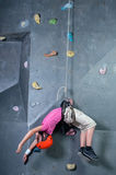 Climbing the wall Royalty Free Stock Photography
