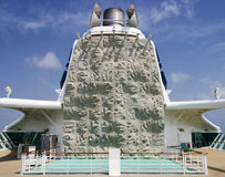 Climbing Wall On Cruiseship Royalty Free Stock Image
