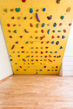 Climbing wall in kids room Stock Images