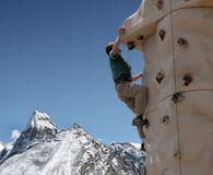 Climbing Wall - Nepal Stock Photography