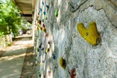 Climbing wall outdoor Stock Photos
