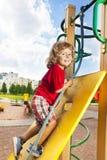 Climbing wall at playground Royalty Free Stock Photography