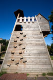 Climbing wall structure Royalty Free Stock Photo