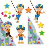 Climbing wall vector illustration Royalty Free Stock Image