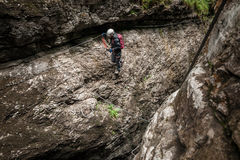 Climbing in Weissenbach, Austria Stock Photos