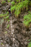 Climbing in Weissenbach, Austria Royalty Free Stock Photography