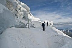 Climbing weissmies Royalty Free Stock Photos