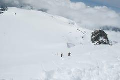 Climbing western breithorn Stock Image