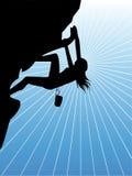 A climbing woman Stock Image