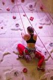Climbing woman Stock Photos