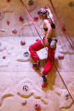 Climbing woman Royalty Free Stock Photography