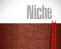 Clime to the niche. ladder concept Royalty Free Stock Images