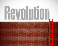 Clime to revolution. illustration design Stock Photo