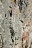 Climnobg on the south face of peak zlia zub. Bulgaria Stock Images