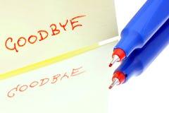 Clin d'oeil écrit au revoir. Image libre de droits