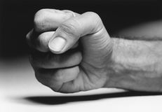 Clinched Fist. Closeup of a clenched fist Stock Images